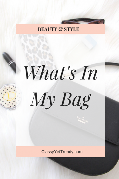 What's In My Bag (Trendy Wednesday Link-up #88)