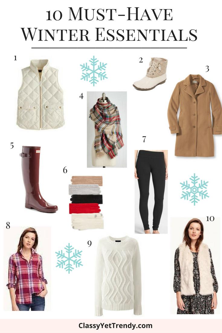10 Must Have Winter Essentials Classy Yet Trendy
