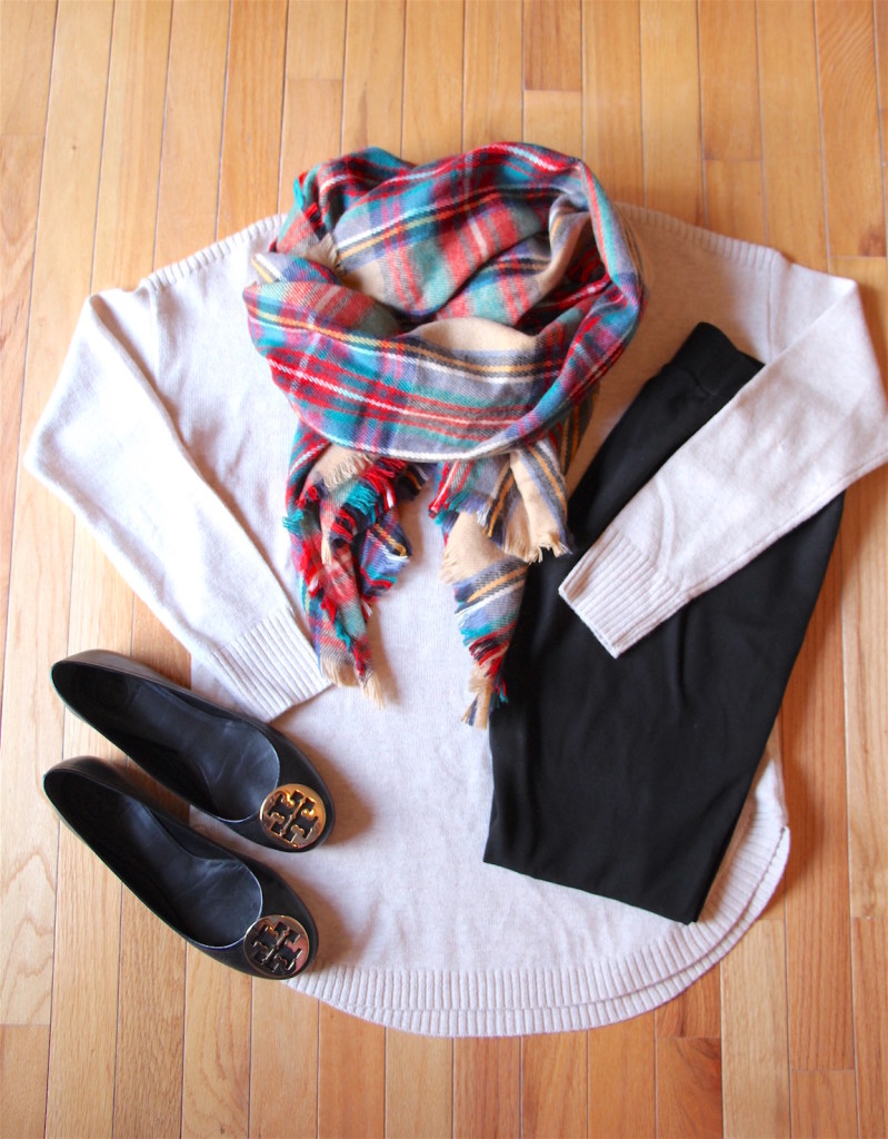 How To Wear a Blanket Scarf 4 Ways Outfit 2