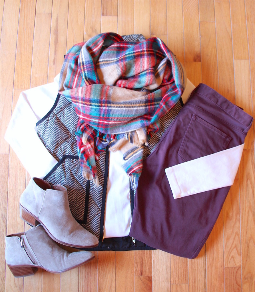 How To Wear a Blanket Scarf 4 Ways Outfit 4
