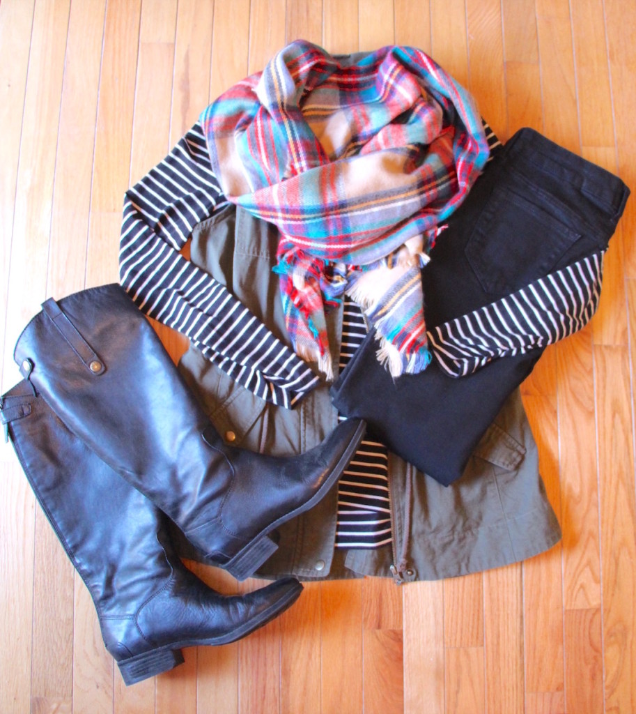 How To Wear a Blanket Scarf 4 Ways Outfit 3