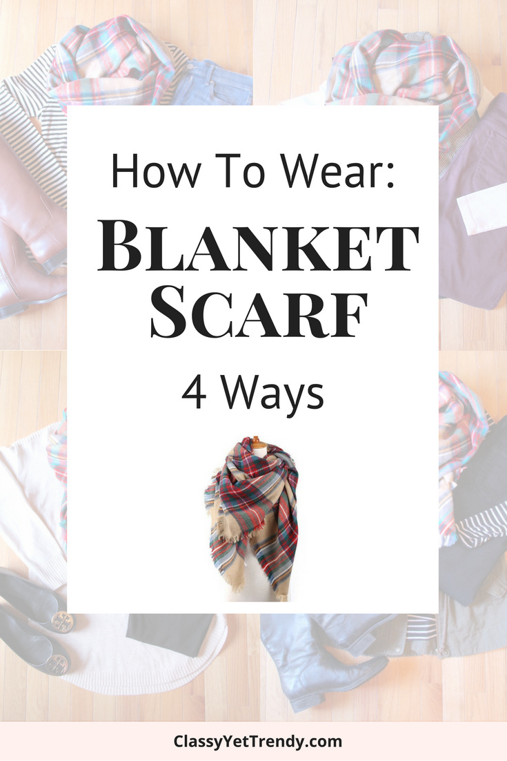 How To Wear a Blanket Scarf 4 Ways