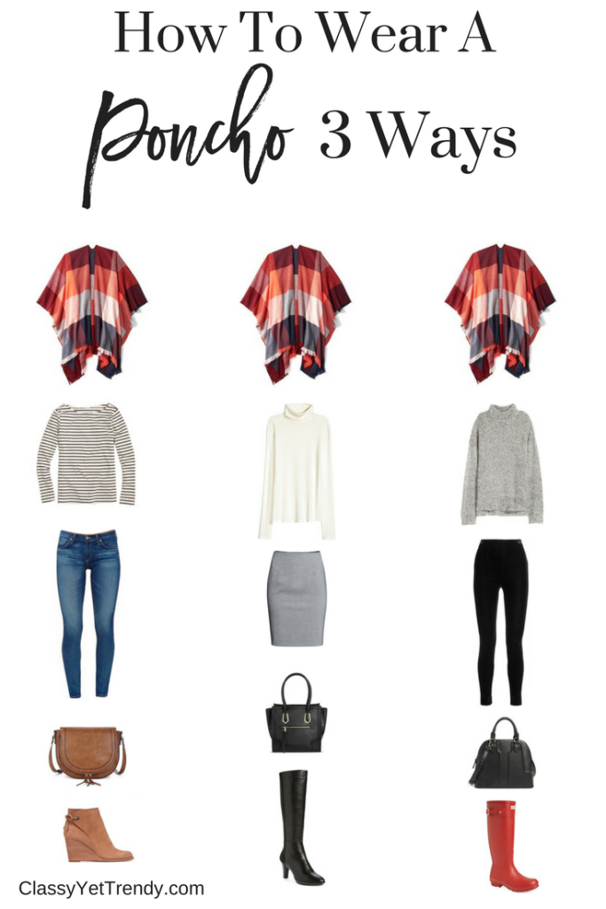How To Wear a Poncho 3 Ways
