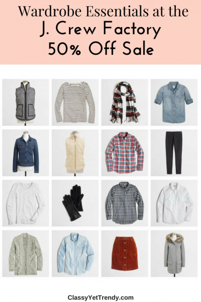 Wardrobe Essentials J Crew Factory Sale
