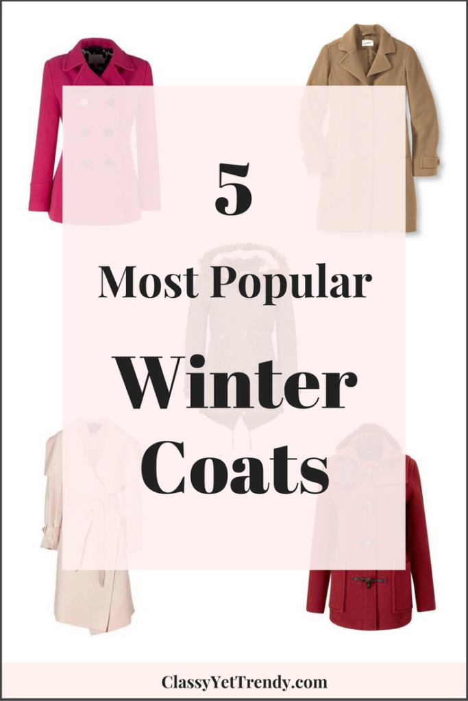 5 Most Popular Winter Coats