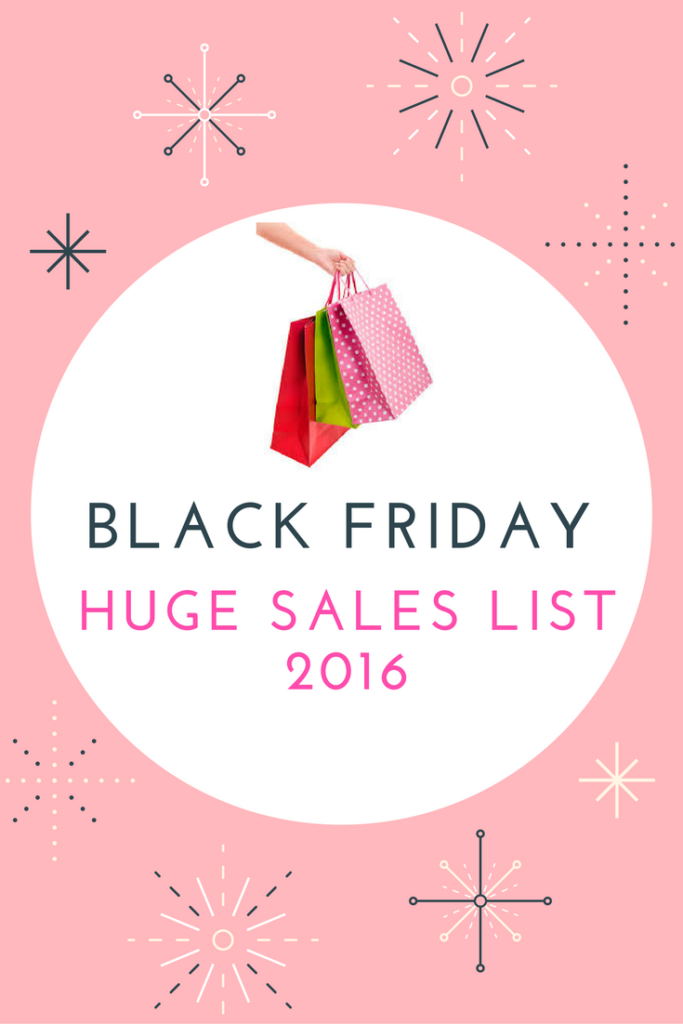 BLACK FRIDAY 2016 HUGE SALES LIST
