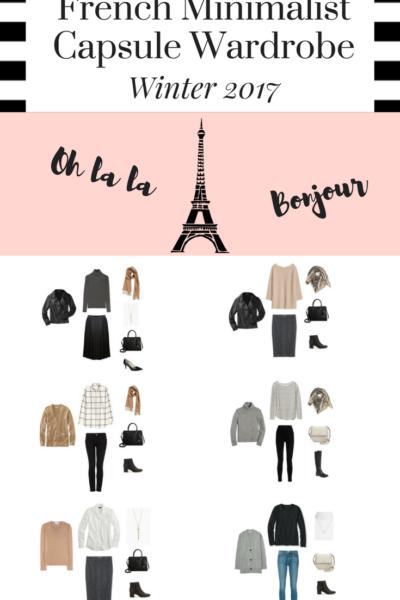 Create a French Minimalist Capsule Wardrobe Winter 2017