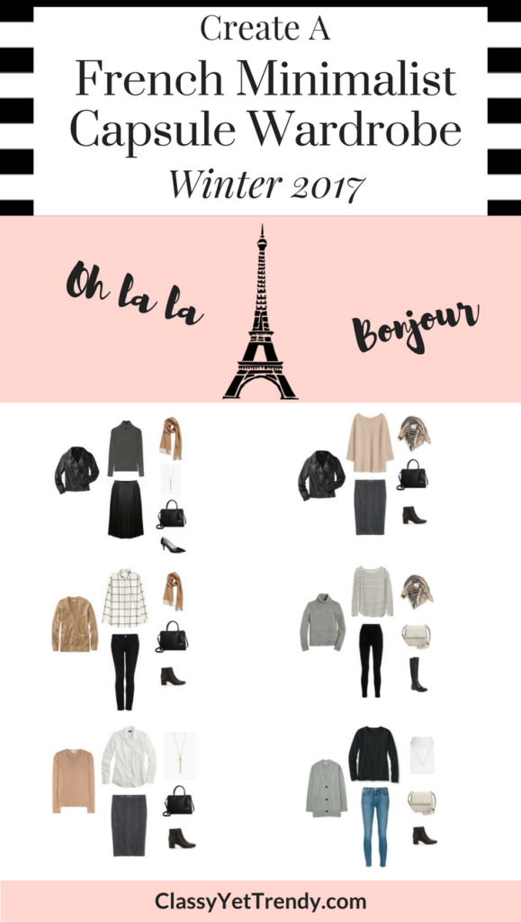 Create a French Minimalist Capsule Wardrobe Winter 2017