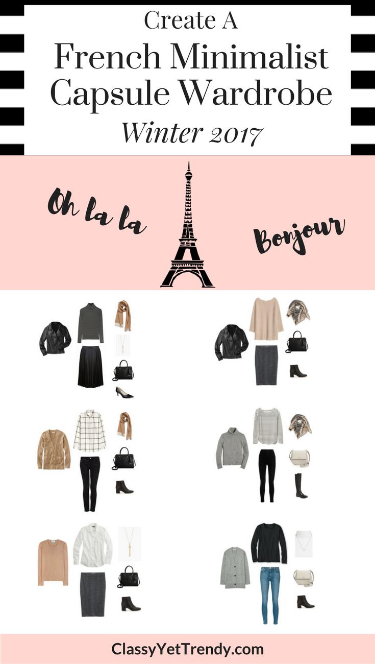 French Minimalist Capsule Wardrobe On A Budget: 10 Winter