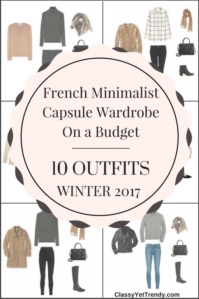Create a French Minimalist Capsule Wardrobe On a Budget: 10 Winter Outfits