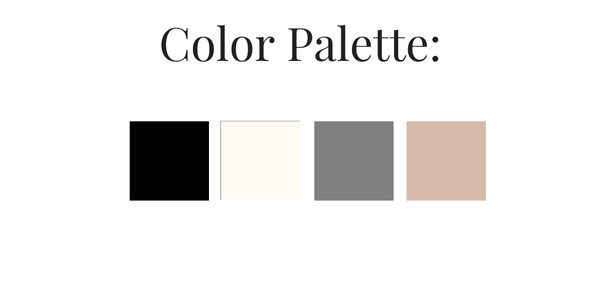 French Minimalist Winter 2017 Color Palette