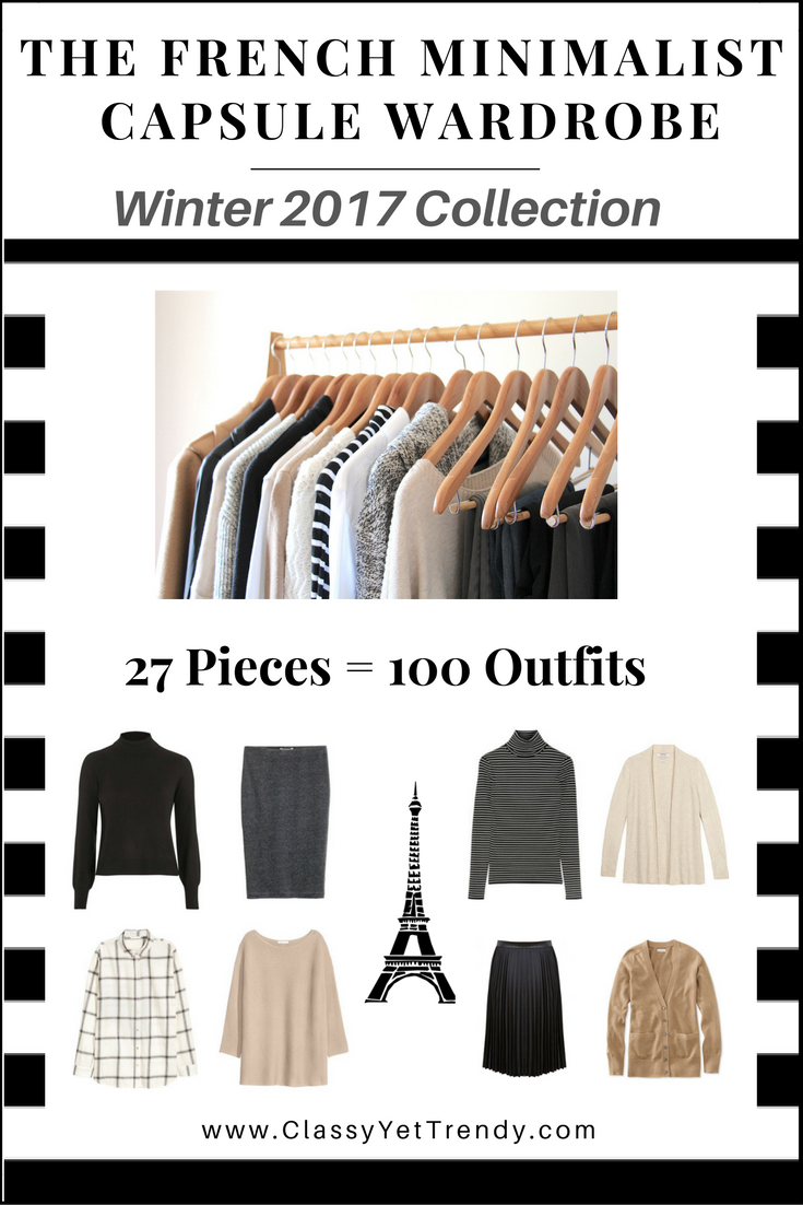 The French Minimalist Capsule Wardrobe Winter 2017