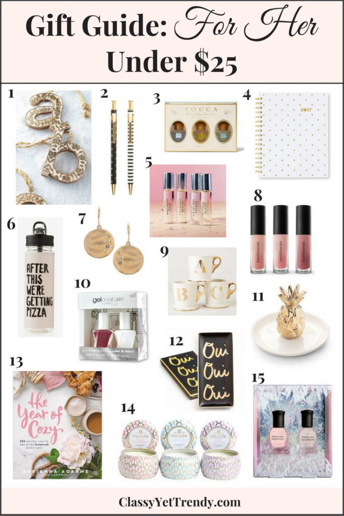 Gift Guide: For Her Under $25