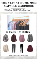 The Stay At Home Mom Capsule Wardrobe E-Book: Winter 2017 Collection