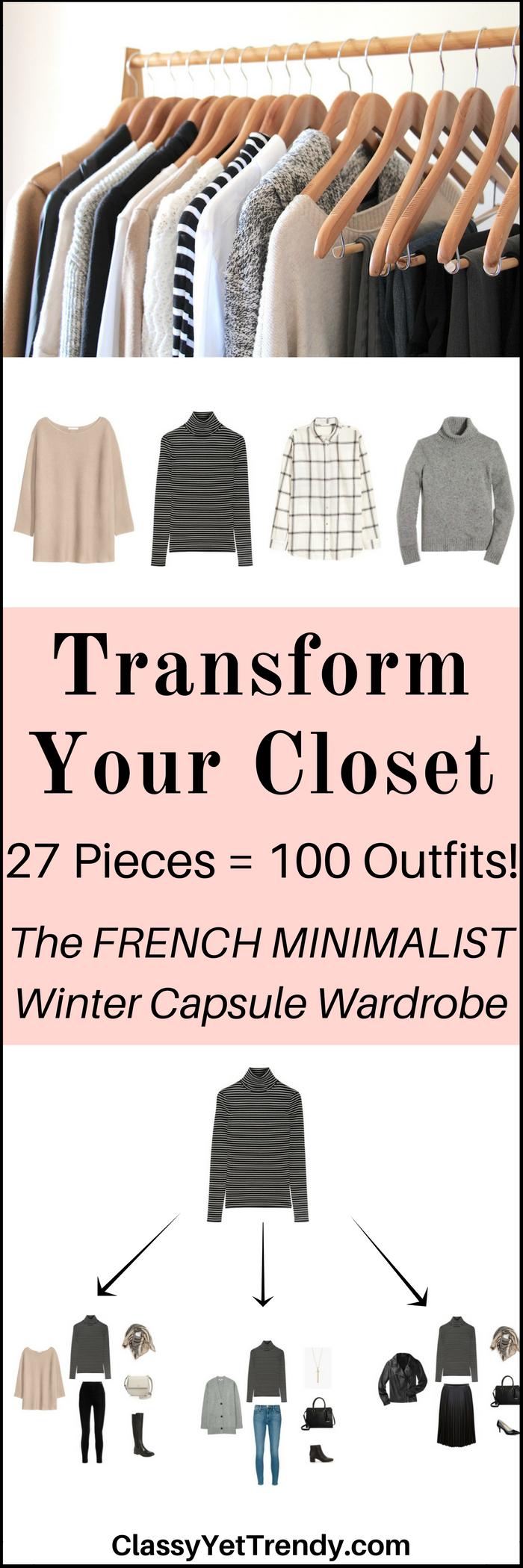 The French Minimalist Capsule Wardrobe: Winter 2017