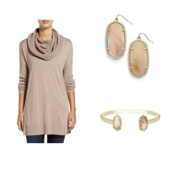Sweater with Jewelry - Outfit #2