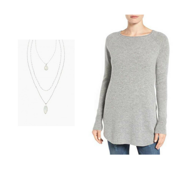 Sweater with Jewelry - Outfit #3