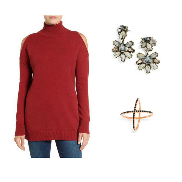 Sweater with Jewelry - Outfit #4