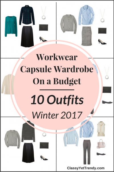 Workwear Capsule Wardrobe On a Budget: 10 Winter Outfits