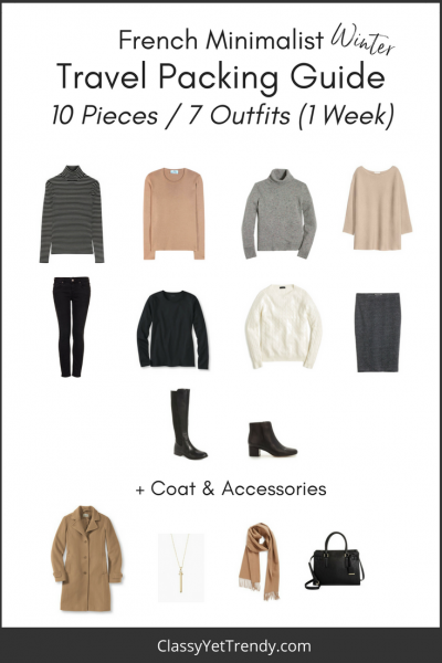 French Minimalist Winter Travel Packing Guide