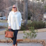 Poncho, Denim and Cognac (Trendy Wednesday Link-up #104)