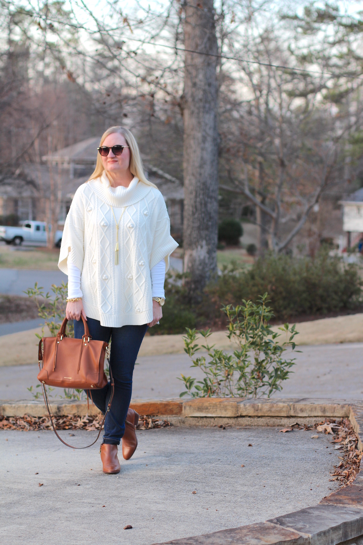Poncho Denim and Cognac