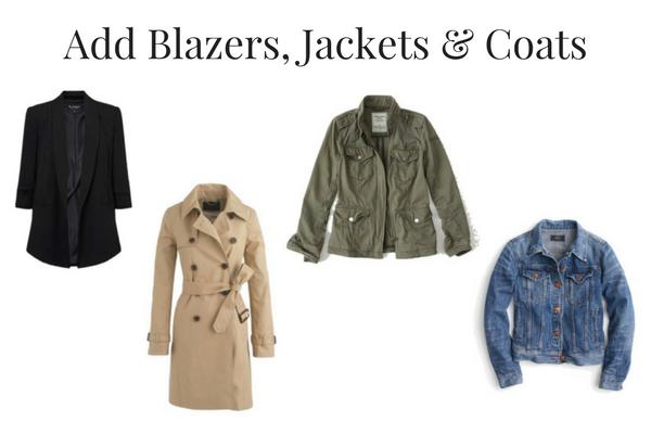 Add Blazers, Jackets & Coats