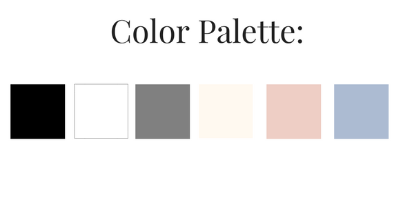 French Minimalist Spring 2017 Color Palette