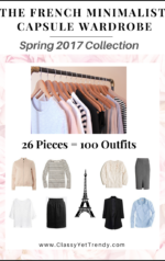 The French Minimalist Capsule Wardrobe: Spring 2017 Collection