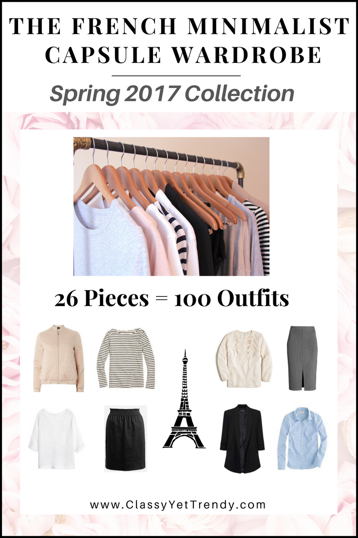 The French Minimalist Capsule Wardrobe - Spring 2017 e-Book