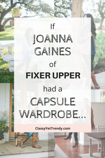 If Joanna Gaines of Fixer Upper Had A Capsule Wardrobe