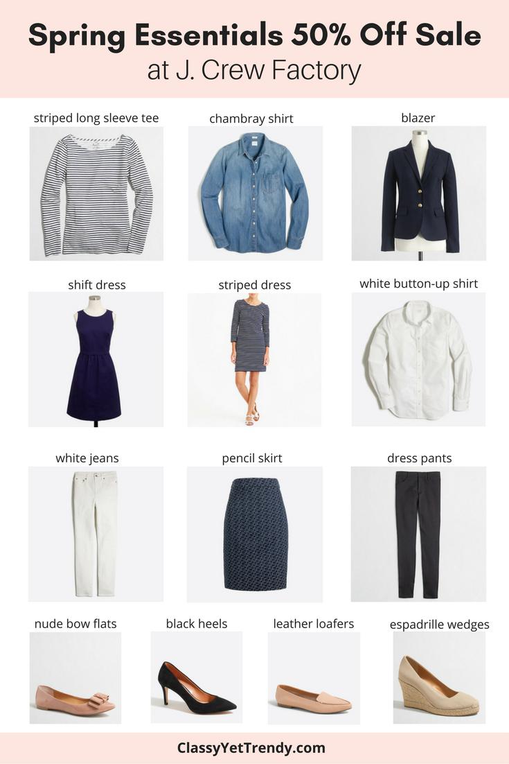 Spring Essentials 50% Off Sale J Crew Factory