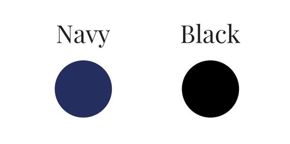 capsule wardrobe - navy or black