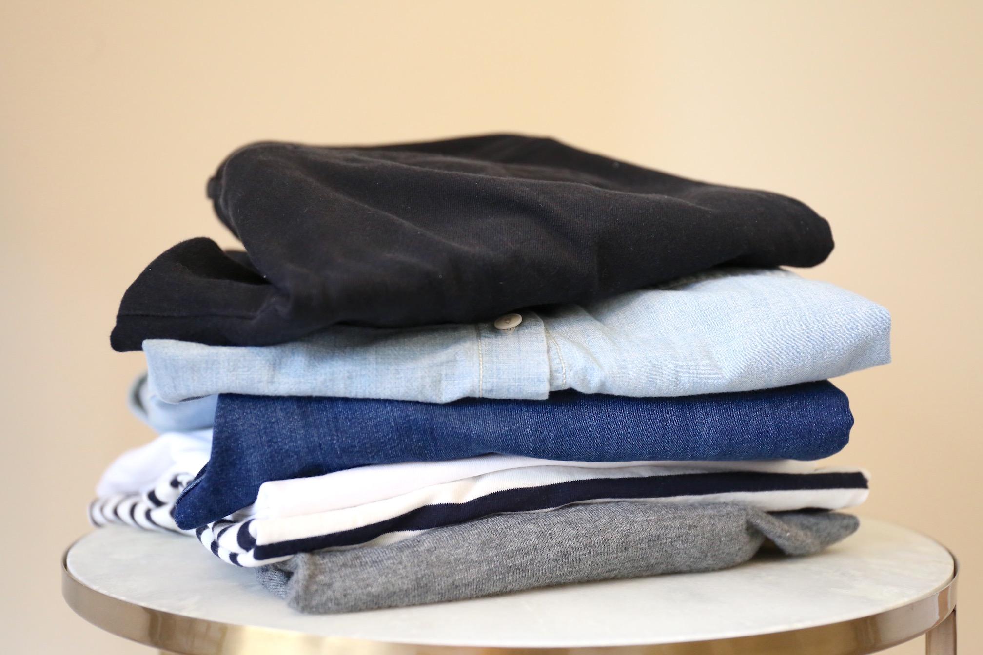 10 x 10 capsule wardrobe challenge clothes stack