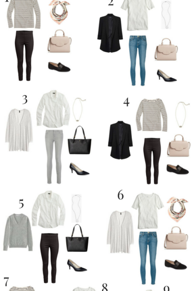9 Pieces 10 Outfits (French Minimalist Style)