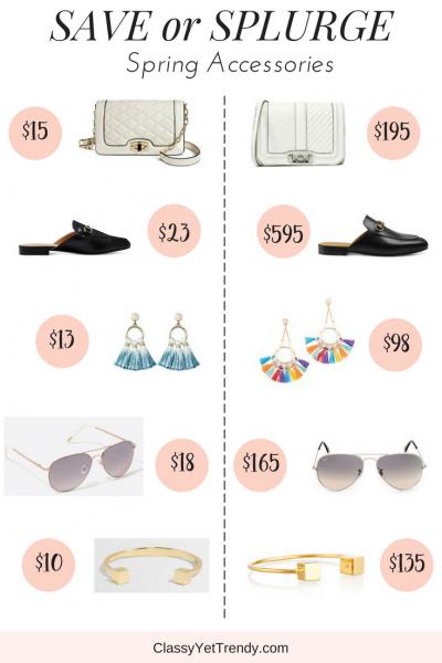 Save or Splurge: Spring Accessories