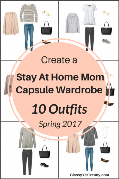 Stay At Home Mom Capsule Wardrobe On a Budget- 10 Spring Outfits