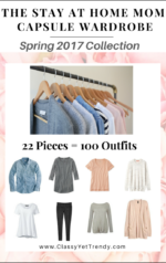The Stay At Home Mom Capsule Wardrobe e-Book: Spring 2017 Collection