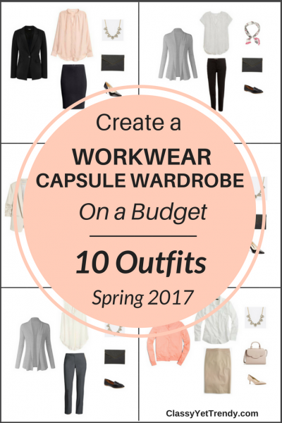 Create a Workwear Capsule Wardrobe On a Budget: 10 Spring Outfits
