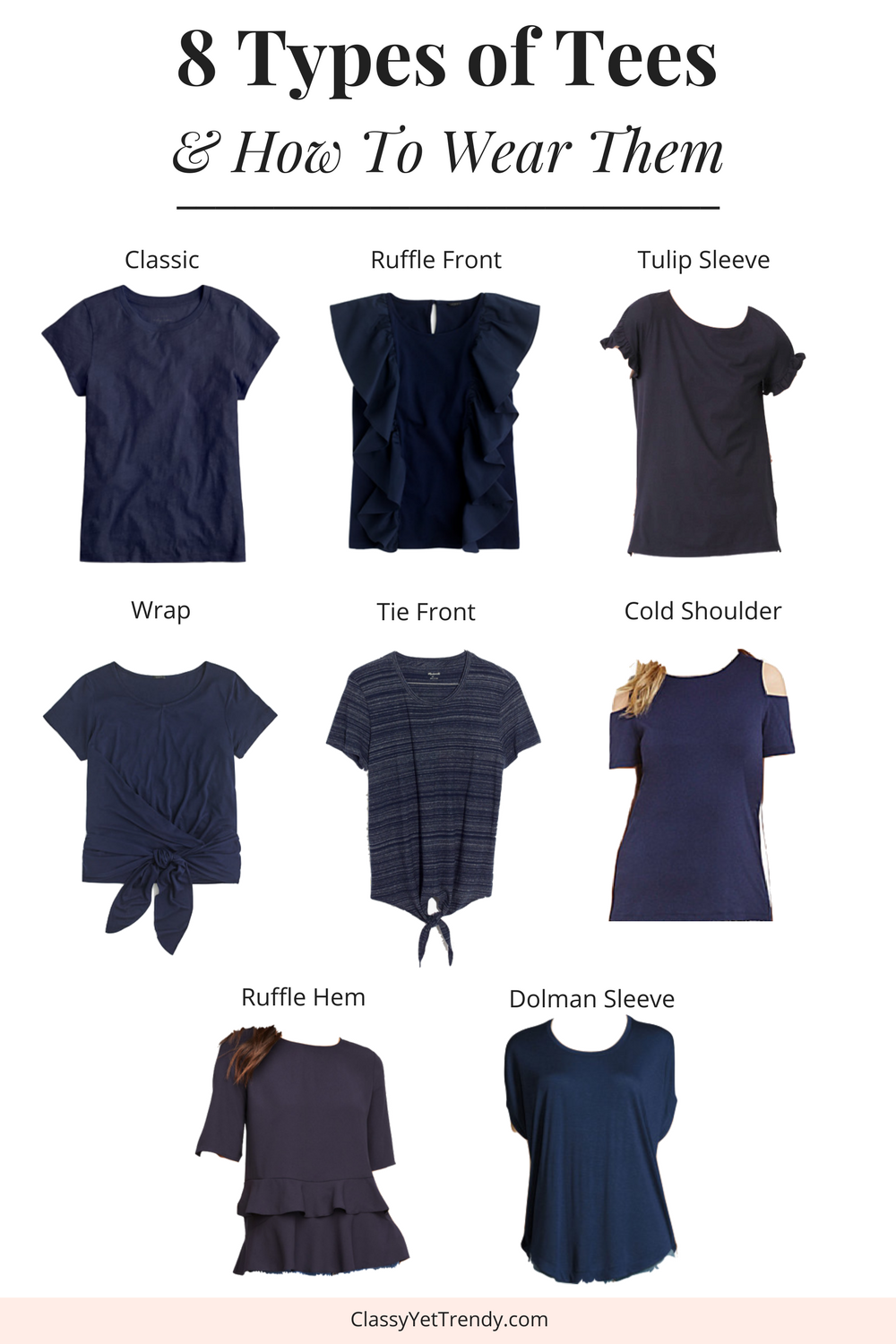 8 Types of Tees and How To Wear Them _