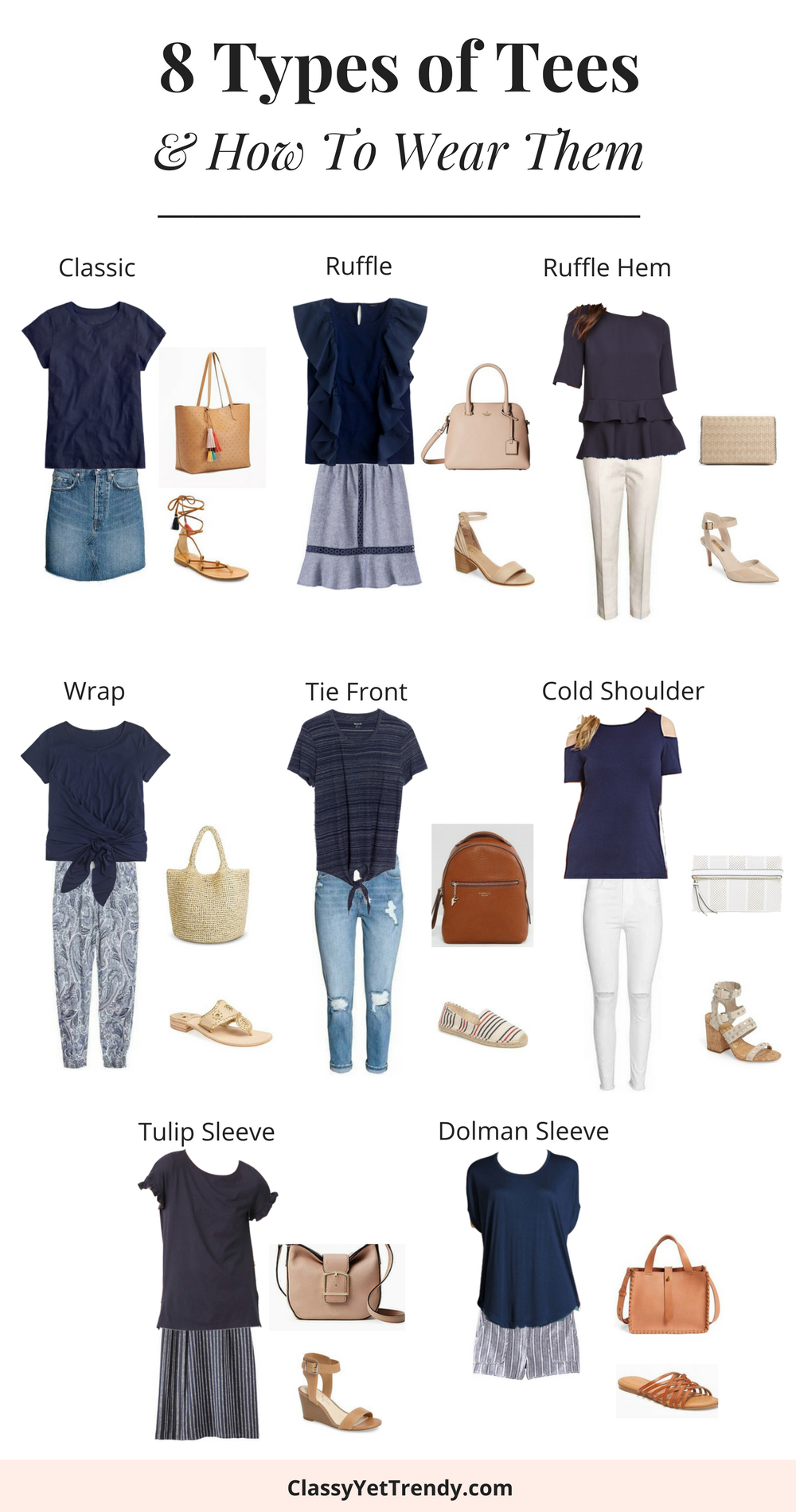 8 Types of Tees and How To Wear Them __