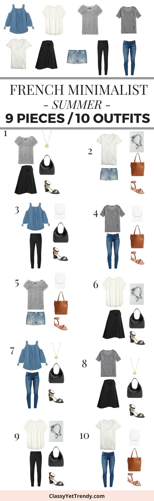 9 Pieces 10 Outfits - French Minimalist Summer