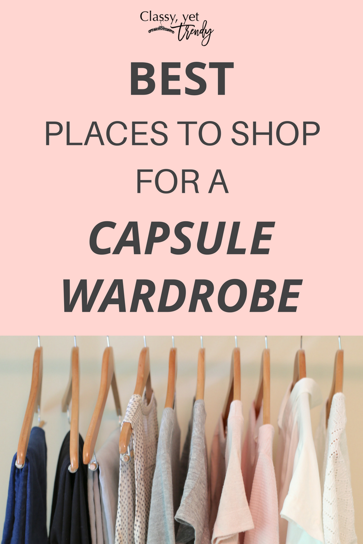Best Places To Shop For a Capsule Wardrobe