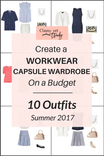 Create a Workwear Capsule Wardrobe On a Budget: 10 Summer Outfits
