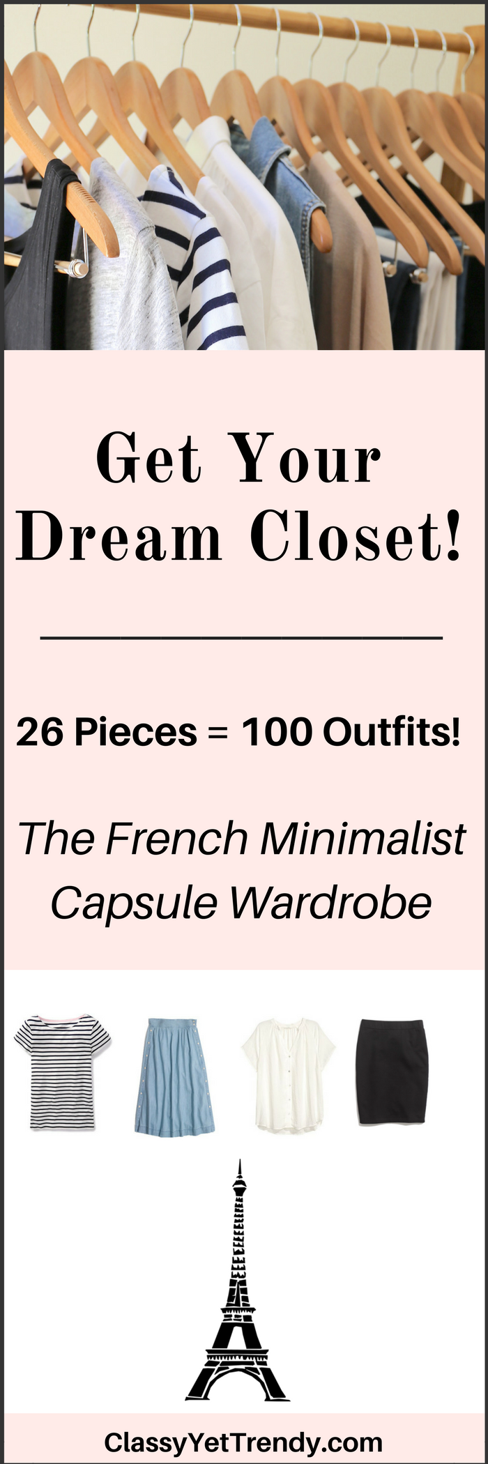 French Minimalist Summer 2017 Capsule Wardrobe e-book