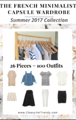 The French Minimalist Capsule Wardrobe: Summer 2017 Collection