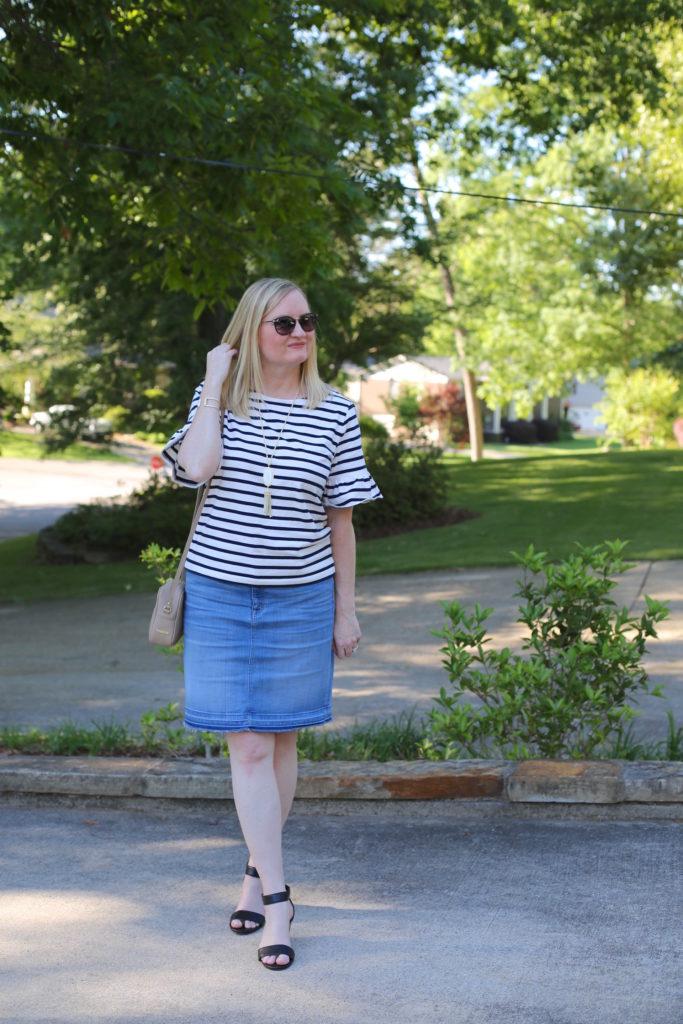 Ruffled Stripes Trendy Wednesday Link Up 120 Classy