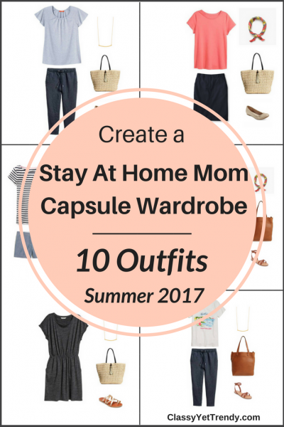Stay At Home Mom Capsule Wardrobe On a Budget- 10 Summer Outfits