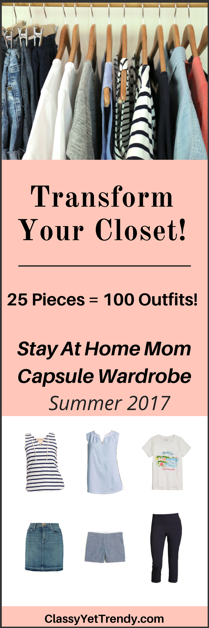 The Stay At Home Mom Summer 2017 Capsule Wardrobe e-book