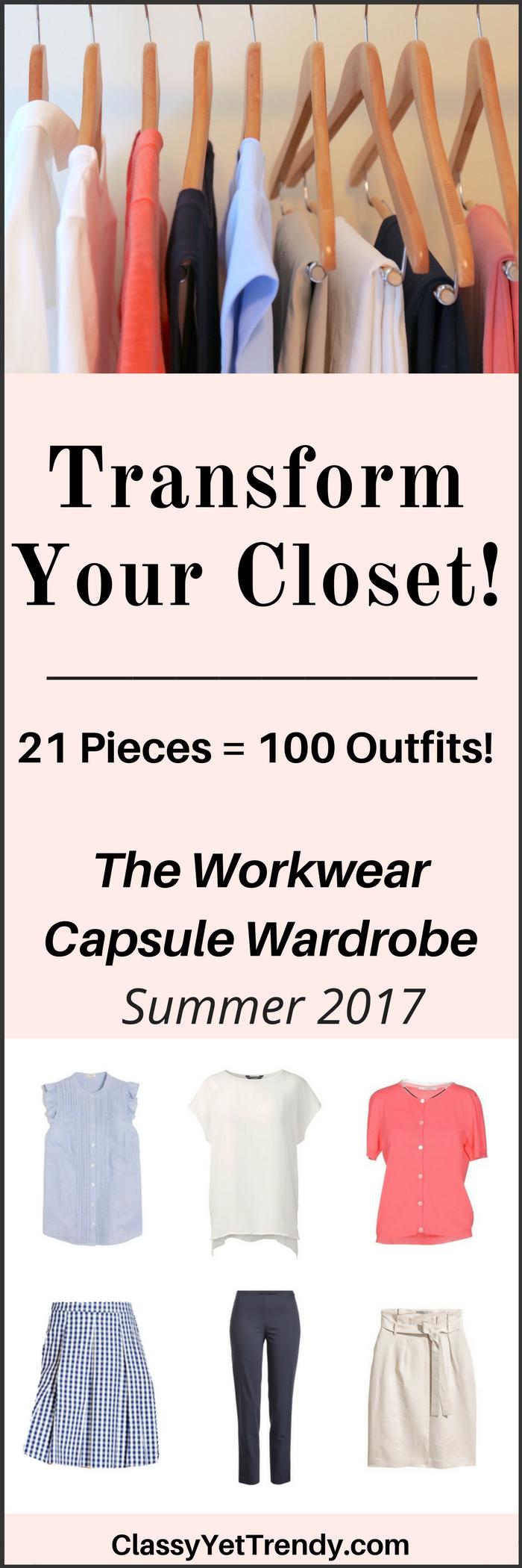 The Workwear Summer 2017 Capsule Wardrobe e-book